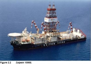 Saipem 10000 drillship arrives at Zohr-2 well location