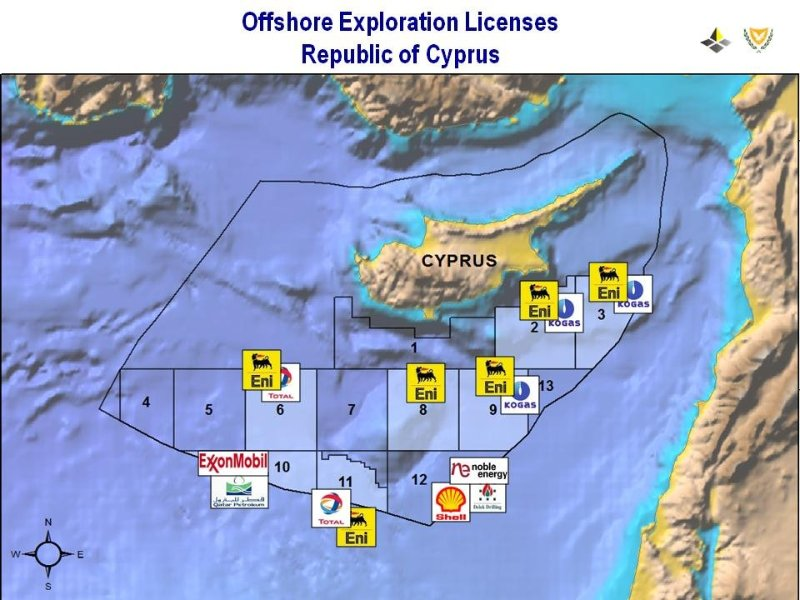 Cyprus: ENI and Total drillings officially on hold for one year