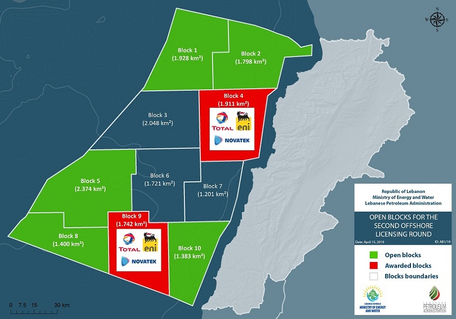 Total prepares to drill well in Block 9 in Lebanon's waters
