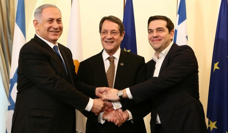 Cyprus, Israel and Greece agree to strengthen ties, discuss natural gas pipeline