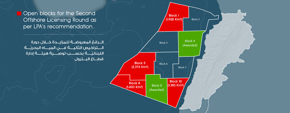 Lebanon opens 4 blocks for the second licensing round